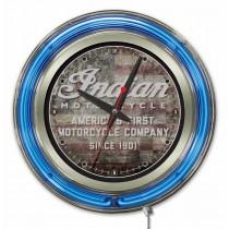 "Indian Motorcycle American Flag Logo 15"" Neon Clock"