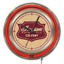 Indian Motorcycle Shield Logo 15 Neon Clock