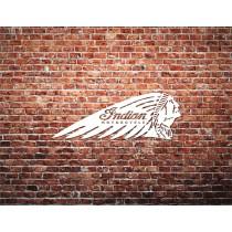 Indian Motorcycle Brick Wall Printed Canvas Art
