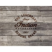 Indian Motorcycle Wood Engraved Logo on Printed Canvas