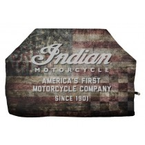 Indian Motorcycle Distressed Wood Flag Grill Cover