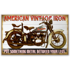 American Vintage Iron Motorcycle Sign