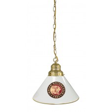 Indian Motorcycle Billiard Pendant Light Brass finish with White Shade