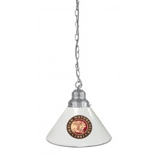 Indian Motorcycle Billiard Pendant Light Chrome finish with White Shade