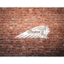 Indian Motorcycle Brick Wall Printed Canvas Art