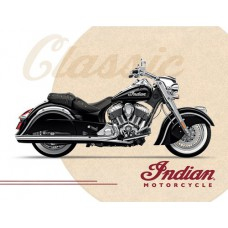 Indian Motorcycle Classic Bike Printed Canvas