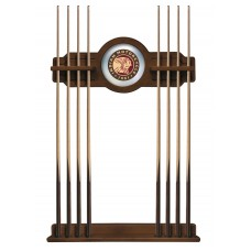 Indian Motorcycle Logo'd Chardonnay Finish Cue Rack