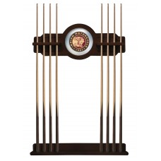 Indian Motorcycle Logo'd English Tudor Finish Cue Rack