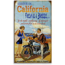 Vintage Motorcycle Touring Wood Sign