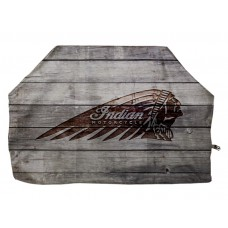 Indian Motorcycle Distressed Wood with Indian Headdress Grill Cover