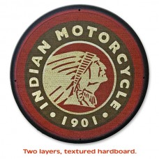 Indian Motorcycle Round Patch Sign