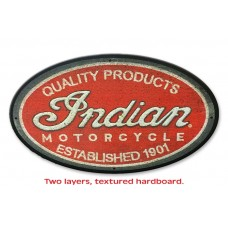 Indian Motorcycle Scripted Logo Patch Sign