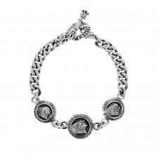 Indian Charm Bracelet w/ t-bar and Toggle