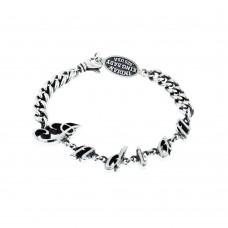 Indian Script Curb Link Bracelet