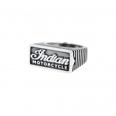 Indian Script Motor Fin Silver Ring