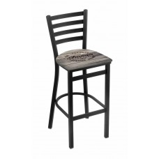 Indian Motorcycle Wood Engraved L004 Stationary Bar Stool