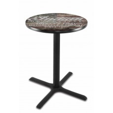 Indian Motorcycle L211 Pub Table with American Flag
