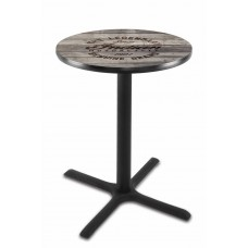 Indian Motorcycle L211 Pub Table with Engraved Wood