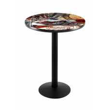 Indian Motorcycle Red Collage L214 Pub Table