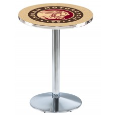 Indian Motorcycle Head Logo Chrome L214 Pub Table