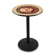 Indian Motorcycle Head Logo Black Wrinkle L214 Pub Table