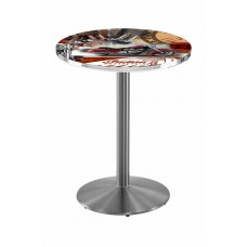 Indian Motorcycle Red Collage Stainless Steel L214 Pub Table