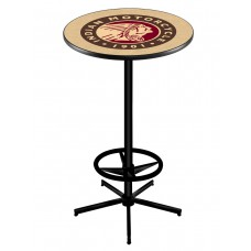 Indian Motorcycle Head Logo Black Wrinkle L216 Pub Table
