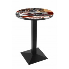 Indian Motorcycle Red Collage Black Wrinkle L217 Pub Table