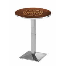 Indian Motorcycle Chrome L217 Pub Table with Brown Logo