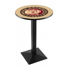 Indian Motorcycle Head Logo Black Wrinkle L217 Pub Table