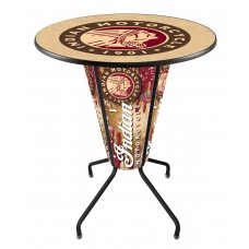 Indian Motorcycle Lighted Pub Table (Indoor)