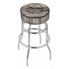 Indian Motorcycle L7C1 Retro Bar Stool with Engraved Wood