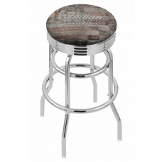 Indian Motorcycle Holland Bar Stool L7C3C with American Flag