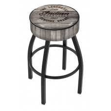 Indian Motorcycle L8B1 Bar Stool with Engraved Wood