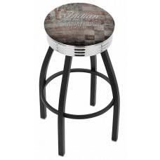 Indian Motorcycle Holland Bar Stool L8B3C with American Flag