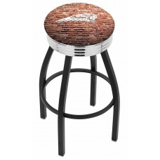 Indian Motorcycle L8B3C Bar Stool with Brick Wall
