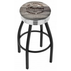 Indian Motorcycle L8B3C Bar Stool with Engraved Wood