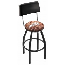 Indian Motorcycle L8B4 Bar Stool with Brick Wall