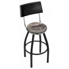Indian Motorcycle L8B4 Bar Stool with Engraved Wood