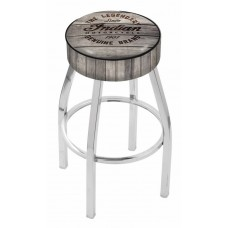 Indian Motorcycle L8C1 Bar Stool with Engraved Wood