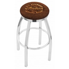 Indian Motorcycle L8C2C Bar Stool with Brown Leather