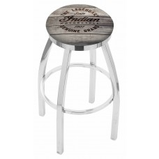 Indian Motorcycle L8C2C Bar Stool with Engraved Wood