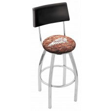 Indian Motorcycle L8C4 Bar Stool with Brick Wall