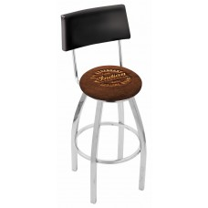 Indian Motorcycle L8C4 Bar Stool with Brown Leather