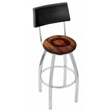 Indian Motorcycle L8C4 Bar Stool with Barn Wood
