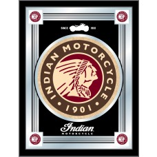 Indian Motorcycle Logo Mirror Black Background