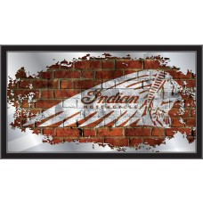 Indian Motorcycle Collectors Mirror Headdress Brick Wall