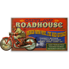 Outlaw RoadHouse Sign