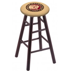 Round Cushion Dark Cherry Maple Stool