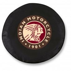 Indian Motorcycle Head Logo Black Tire Cover